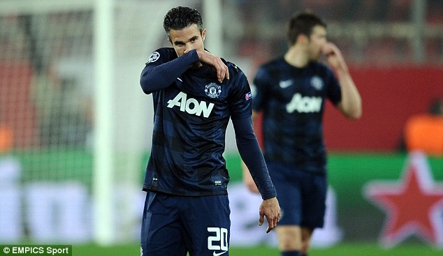 Committed? David Moyes has reportedly questioned the attitude of star striker Van Persie