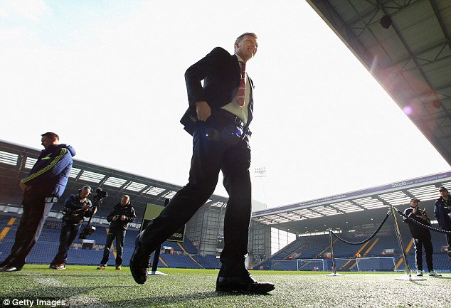 Ray of hope? David Moyes arrives at The Hawthorns for Manchester United's game against West Brom