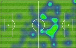 All-action performance: Wayne Rooney's heat map for the match with West Brom