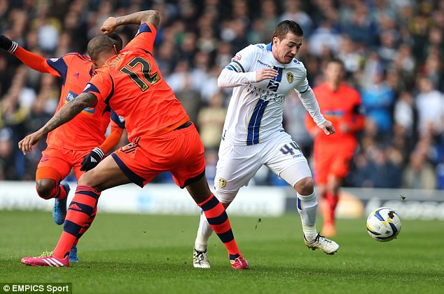 Sinking: The play-off hopes of Leeds skipper Ross McCormack (right) are dwindling fast
