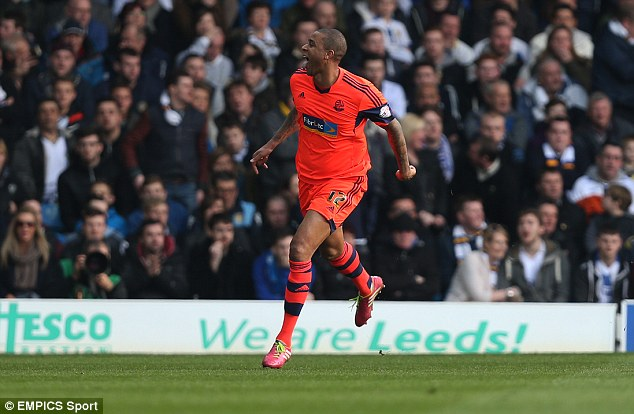 Zat Knight is a rare scorer for Bolton so the defender enjoyed his 56-th minute goal