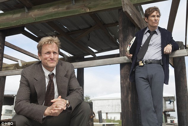 Woody Harrelson and Matthew McConaughey as Martin Hart and Rustin Cohle, two Louisiana detectives investigating the murder of Dora Lange, who was drugged, raped and tortured before her corpse was found naked, wearing only a crown of antlers