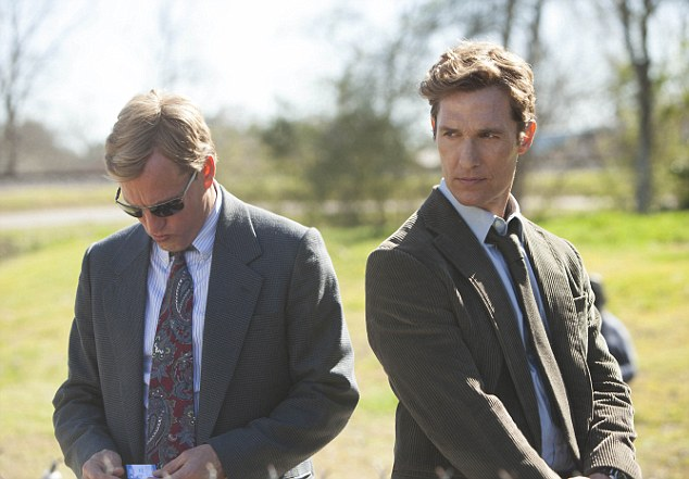 The rapport between Hart & Cohle/Harrelson & McConaughey is one of the few pure joys of True Detective. 'Do you think that man can love two women at once?' Hart asks his partner, earnestly. 'I don't think man CAN love,' Cohle drawls, a reply so bleak it shocks even Hart