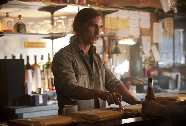 Matthew McConaughey's dual performances - as Rustin Cohle circa 1995 and 2012 - are even better than his Oscar-winning acting in Dallas Buyers Club