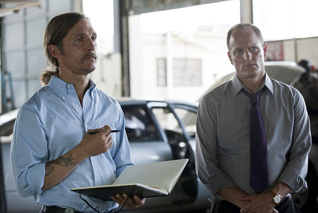17 years afterwards, detectives Rustin Cohle (Matthew McConaughey) and Marty Hart (Woody Harrelson) still bore the scars of the Dora Lange case, among others. Cohle in particular was transformed, having spent most of the intervening years drinking
