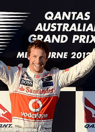 Top step: Button at the 2012 Australian Grand Prix