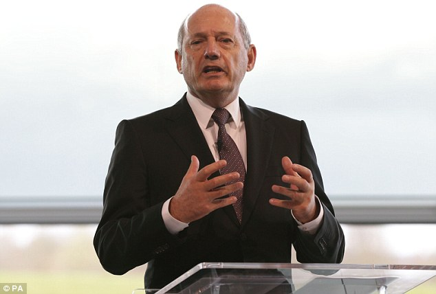 Back in town: Ron Dennis has returned as group chairman and CEO - but insists he will not be on the pit wall