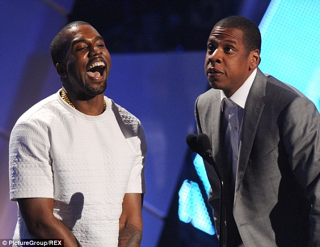 A close bond: West and Jay Z photographed together at the BET Awards in 2012; the creative duo have always maintained a close collaboration