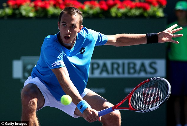 Drifting away: Rosol put up a tough fight winning the first set but tailed away towards the end