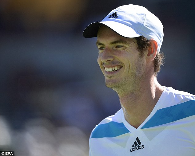 Three set victory: A smiling Murray was happy to come through the match unscathed