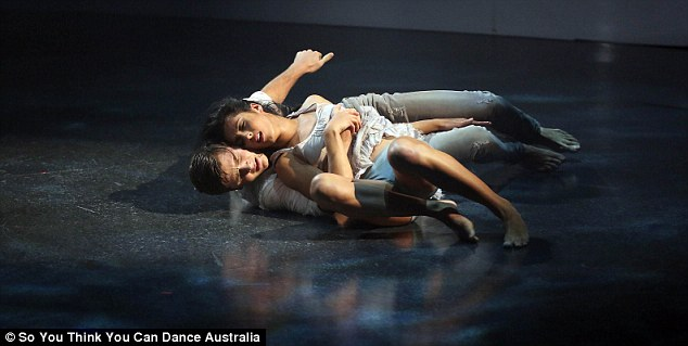 Emotional: The routine appears on Sunday's episode of So You Think You Can Dance Australia