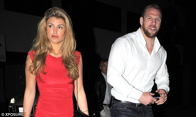 Out on the town: James Haskell (right) and Amy Willerton are seen heading to her West Hollywood hotel