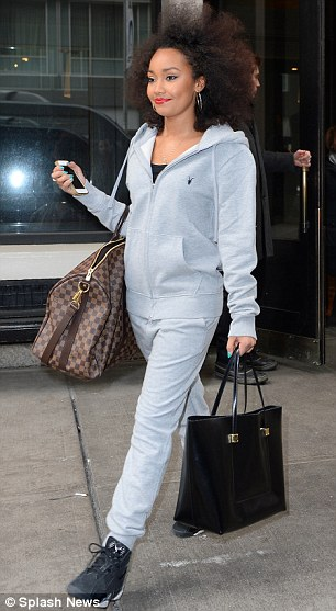 Mix-ing it up: Meanwhile Leigh-Anne Pinnock opted for a much more relaxed and comfy onesie for their spree