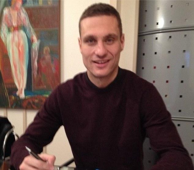 On his way: Nemanja Vidic has signed for Inter Milan ahead of next season