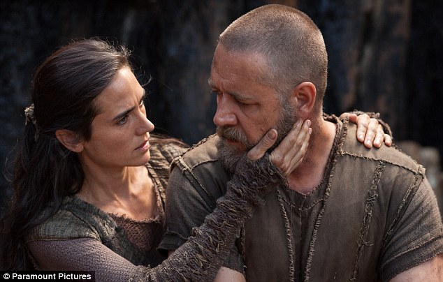 Stars: Russell Crowe as Noah with Jennifer Connelly, who plays his wife Naameh and won an Oscar for best supporting actress for her appearance alongside Crowe in A Beautiful Mind