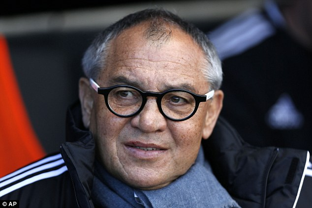 In need a miracle: Fulham manager Felix Magath watched his side lose again