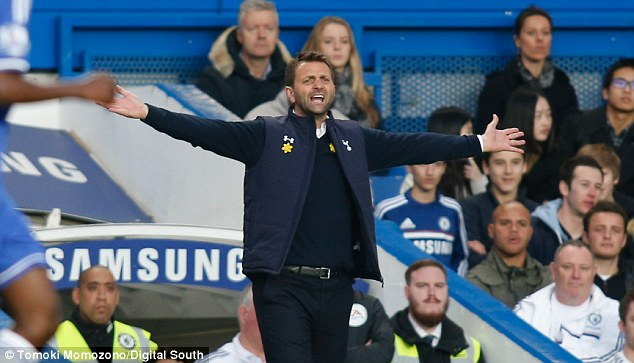 Fuming: Tim Sherwood pulled no punches after Spurs were thrashed by Chelsea