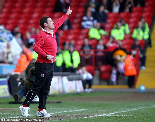 That way to Wembley: Nigel Clough has guided League One Sheffield United to the semi-final