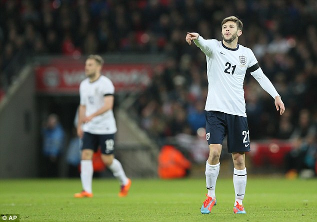 Calling the shots: England improved against Denmark when Adam Lallana came on