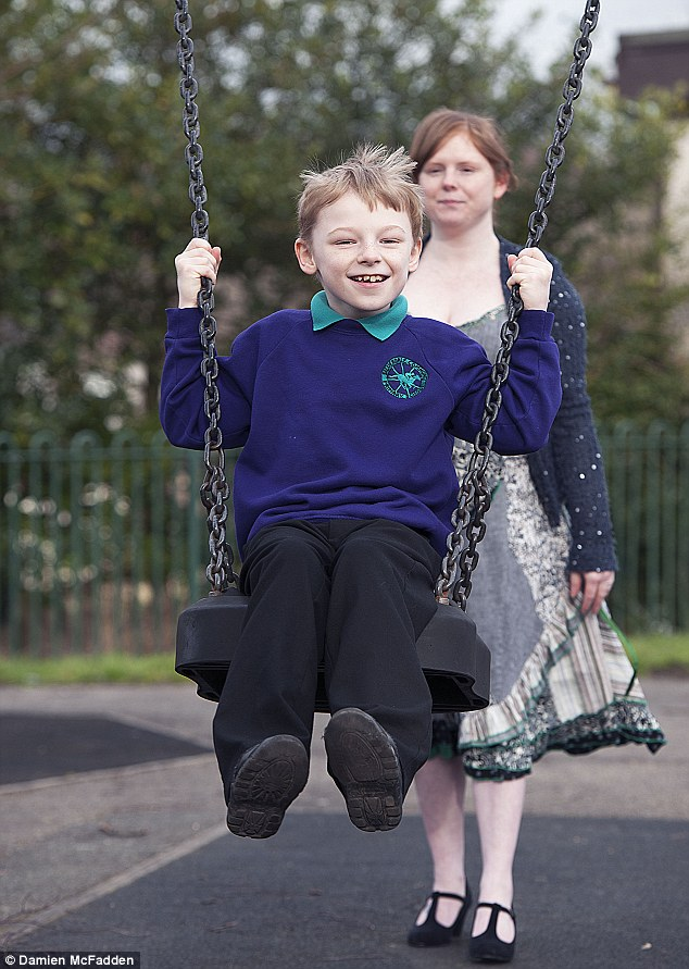 Ben has already taught himself to walk, but his disability means it is painful for him and over time his mobility will deteriorate, leaving him wheelchair-bound and unable to play with brother Josh, five
