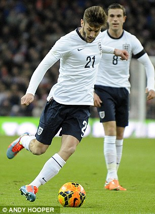 Talented: Midfielder Adam Lallana has stared for both England and the Saints in recent weeks