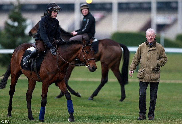 Dream team: Walsh, Mullins and Hurricane Fly put the final touches to their preparation