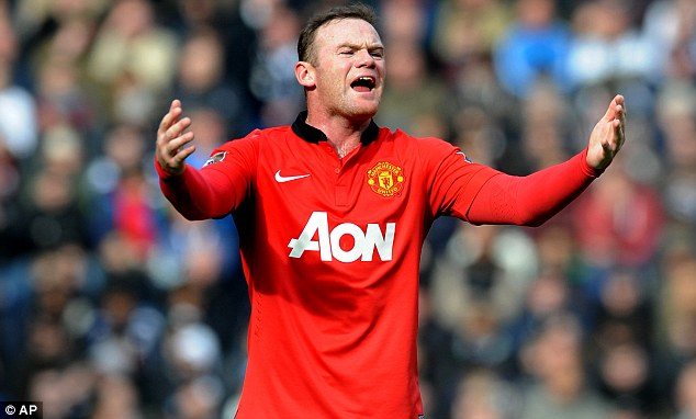 Under threat: Rooney's place in the United and England line-ups are not secure
