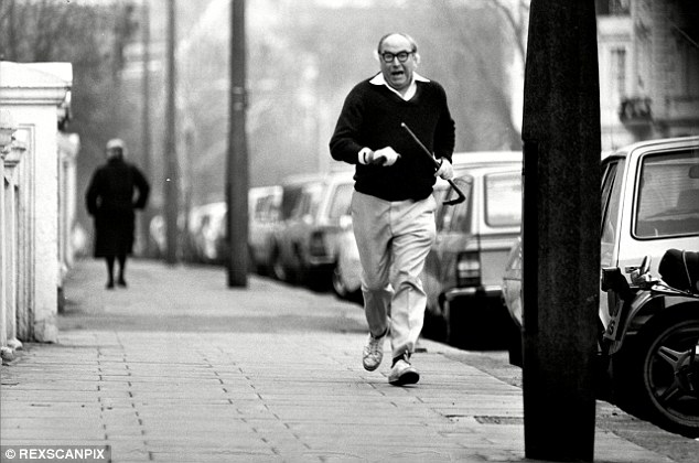 Jogging: Roy Jenkins near his London home. When he was younger he broke off the relationship with Tony Crosland, who still wrote to him: 'Very much love, my pet. I have no fears at all for the future'