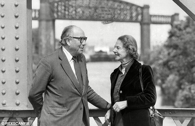 Water under the bridge: While Crosland went through a wild period - marrying then having a string of glamorous girlfriends - Jenkins (pictured with his wife) was more stable, despite his affairs