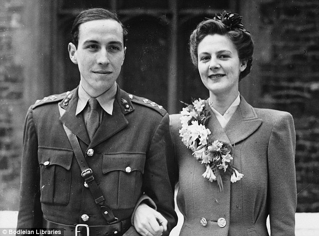 Love triangle: Roy Jenkins' marriage to Jennifer Morris in 1945. He would later would become a driving force behind the decriminalisation of homosexuality, and despite the fling, he did not define himself as gay