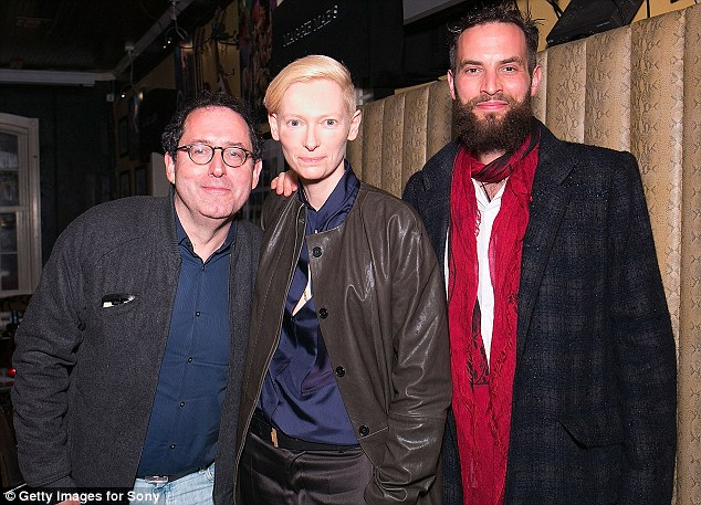 Industry players: Tilda with Sony Pictures Classics founder Michael Barker and her boyfriend Sondro Kopp