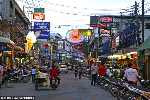 A travel agent in the resort of Pattaya (file picture) said an Iranian business contact she knew only as 'Mr Ali' had asked her to book tickets for the two men on March 1