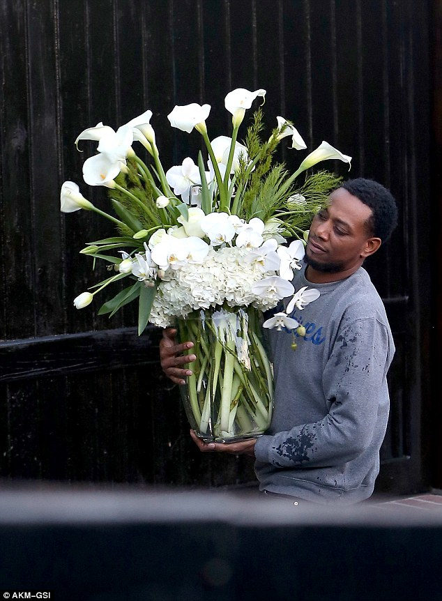 Love token? On February 27 three huge white bouquets of flowers were seen being delivered to Paula's home in Los Angeles