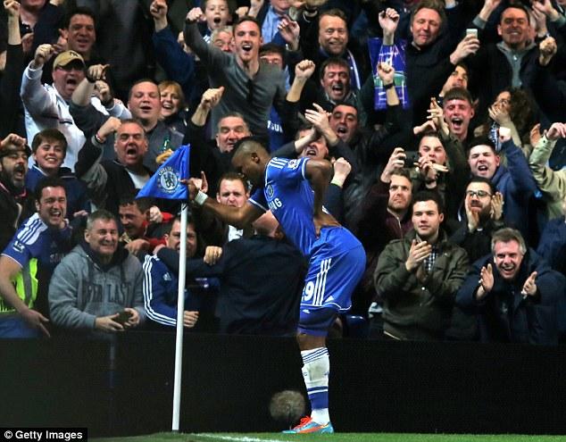 Pension pot: Chelsea striker Samuel Eto'o, 33, is worth around £70million