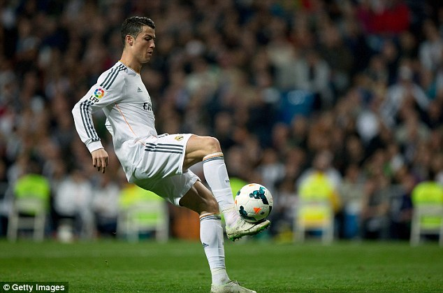 Best in the world: Ronaldo, who scored his 42nd goal of the season for club and country against Levante on Sunday night, was crowned Ballon d'Or winner back in January