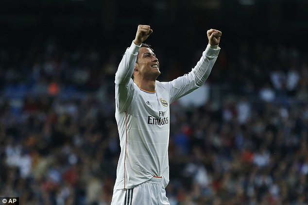 Wealth: Real Madrid superstar Cristiano Ronaldo topped the annual Goal.com Football Rich List with an estimated wealth of £122million