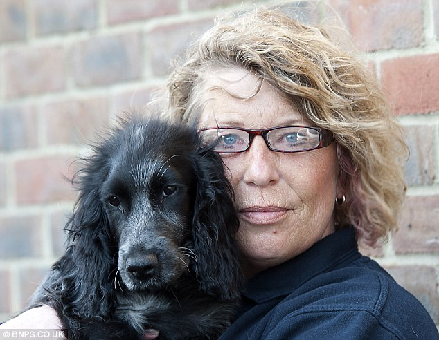 Relief: Mrs Pipe (pictured with 20-week-old Marley) is a car parts delivery driver from Corfe Mullen, Dorset