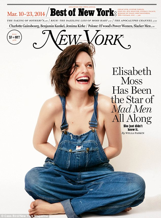 Baring all: In the new issue of New York magazine Elisabeth Moss called her brief marriage to Fred Armisen 'traumatic' and says they should never have wed