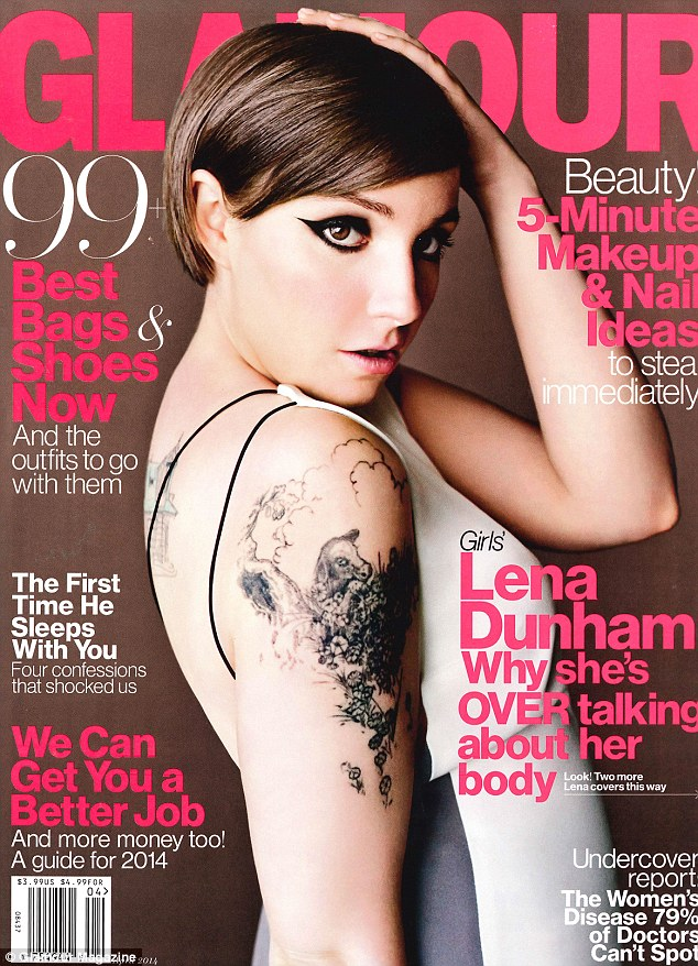 Proud of her body: Lena covers Glamour magazine, and addresses the criticism of her for stripping off in Girls