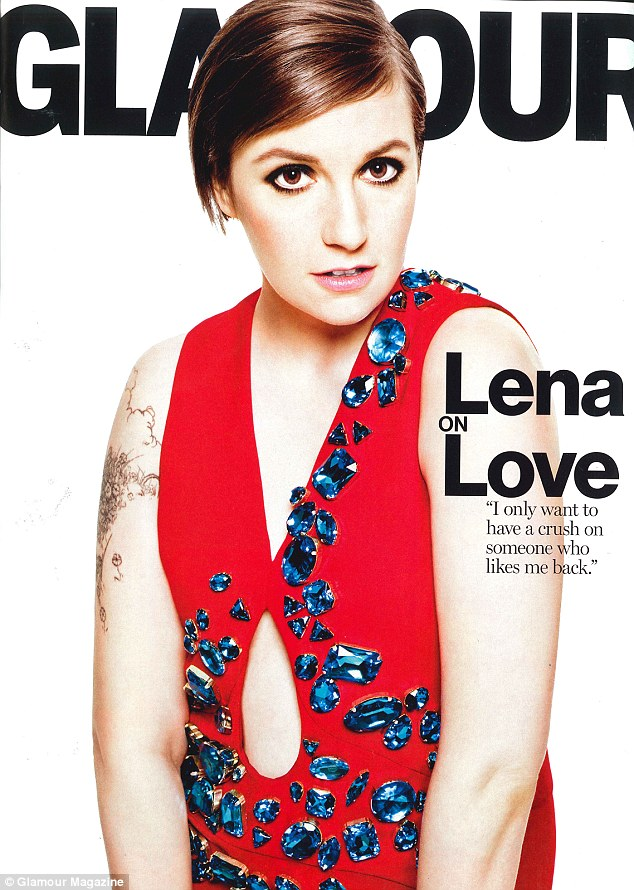 Opening up: While she embraces her body's imperfections, Lena says there will come a time when she keeps her clothes on onscreen