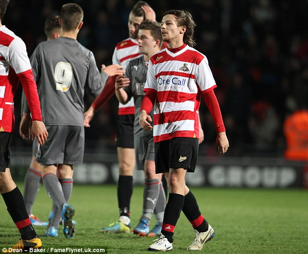 Talented: Louis Tomlinson made his debut for Doncaster Rovers' reserve side against Rotherham in February
