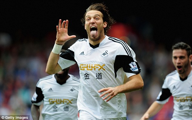 Rare sight: Michu has managed just six goals during an injury-disrupted campaign