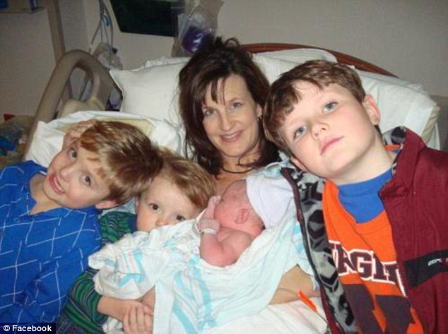 Fight: Aimee Hardy, pictured with Josh, second left, and her other children, campaigned to get access to the experimental treatment
