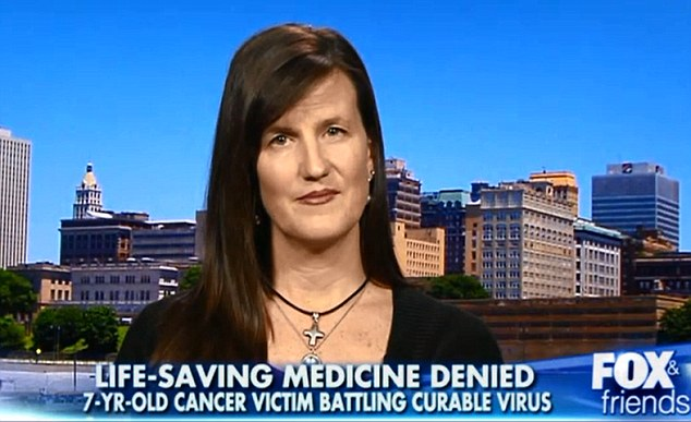 Mother: Aimee Hardy appeared on Fox and Friends, saying she was infuriated that she was not sitting by her son's side and holding his hand, but had to campaign so that he could get the medicine he needs