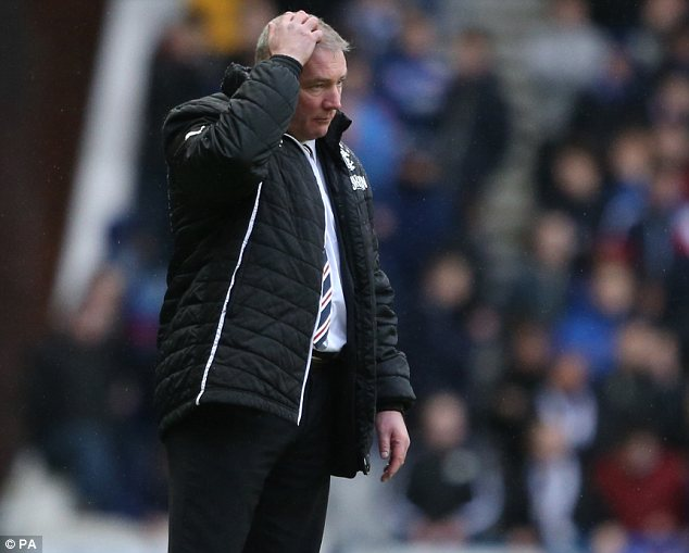 Under fire: Some fans have criticised the tactics of manager Ally McCoist
