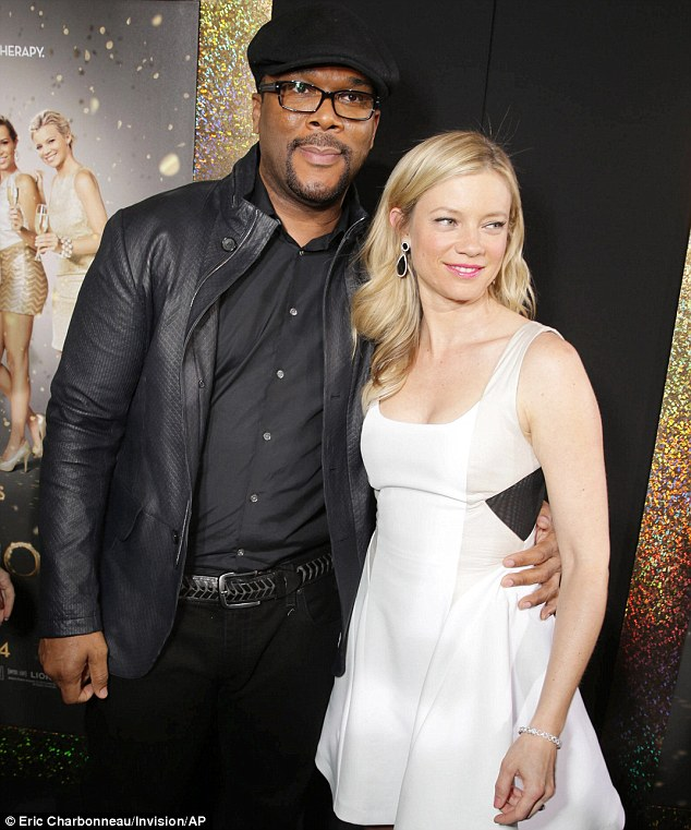 The man himself: Movie making titan Tyler Perry was gracious enough to pose with the actress