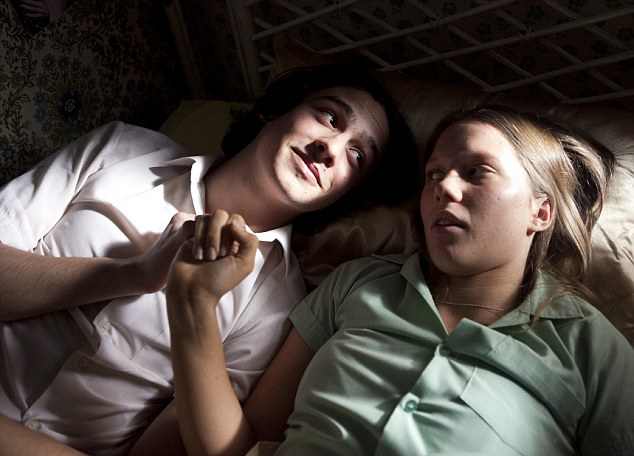 Up close: Christian Byers and Brenna Harding in a scene from Puberty Blues