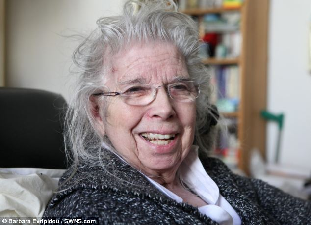 Recovering: Jean Taylor, 76, was beaten to a pulp with a pottery doorstop by a thug who ransacked her home