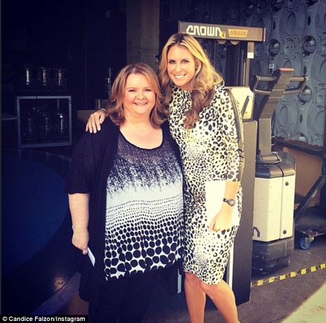 Inspiration: Candice Falzon posted a picture with Magda calling the comedian an 'absolute legend' after meeting her at The Today Show set