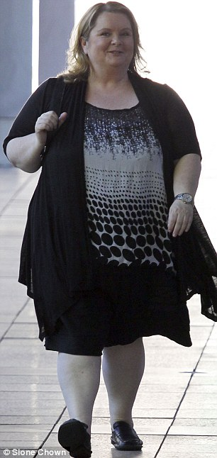 Laid back style: The actress and comedian wore a loose fitting patterned blouse and black shorts for her television appearance